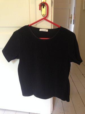 Schwarze Plissé Bluse von Samsoe & Samsoe