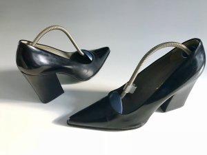 Schwarze Prada Schuhe mit Blockabsatz