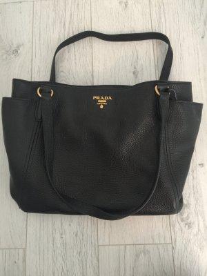 Schwarze Prada Tasche aus Leder