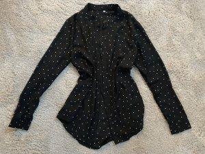 Schwarze Pünktchen Bluse von Shein in Größe S