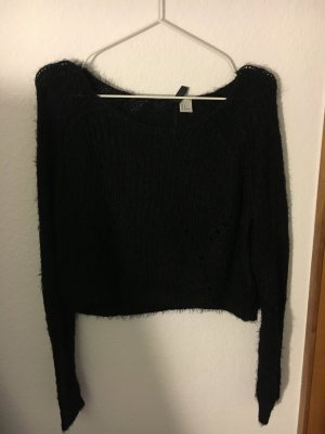 Schwarze Pullover kurz