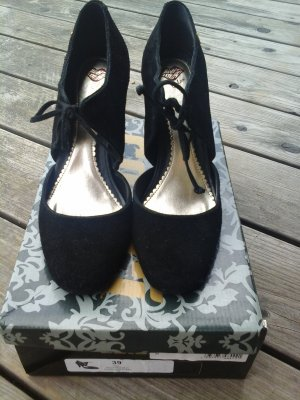 Colcci Zapatos de tacón con barra en T negro Cuero