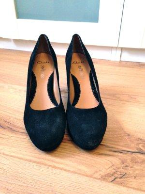 schwarze Pumps, Clarks, softwear, neu.
