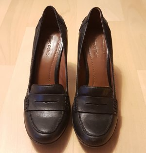 Marc O'Polo Loafers zwart Leer