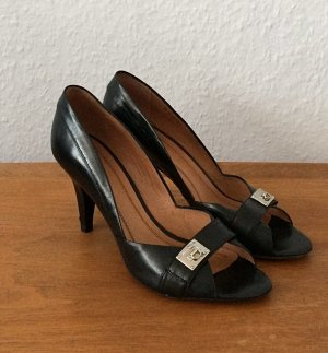 Hugo Boss High Heels black-silver-colored leather