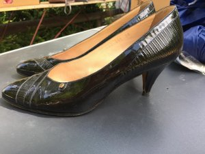 Aigner High Heels black-gold-colored