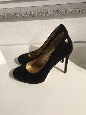 Blink High Heels black-gold-colored