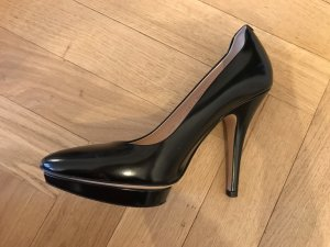 Bally High Heels black-cream leather