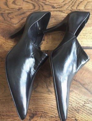 Oxitaly Chaussure à talons carrés noir cuir