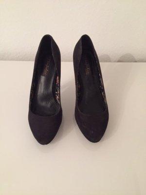 Zara Trafaluc Tacones altos negro Imitación de cuero