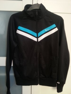 Schwarze retro Nike Sweatjacke