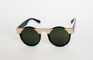 Schwarze Retro Sonnenbrille