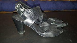 Schwarze Riemchen-Sandaletten echtes Leder 38 Kämpgen