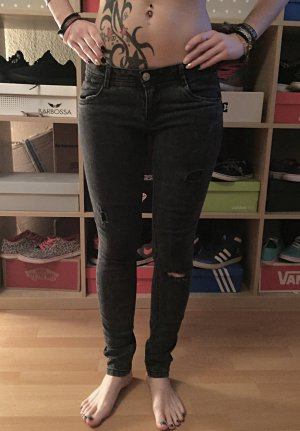 Schwarze Ripped-Jeans cut-out Jeans C&A S