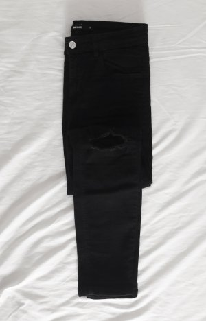 schwarze Ripped Jeans High Waist BIKBOK