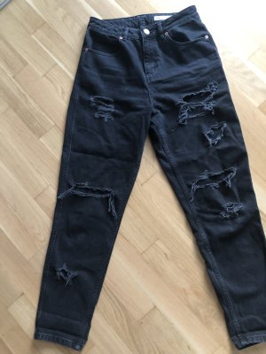 Asos Denim Jeans a vita alta nero