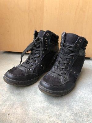 Schwarze Rocker Highheels