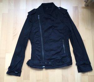 Schwarze rockige Jacke im Biker Stil von Karl Lagerfeld