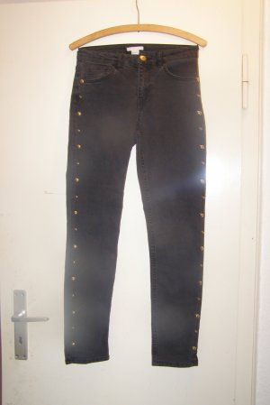 H&M Spijkerbroek zwart-taupe Katoen
