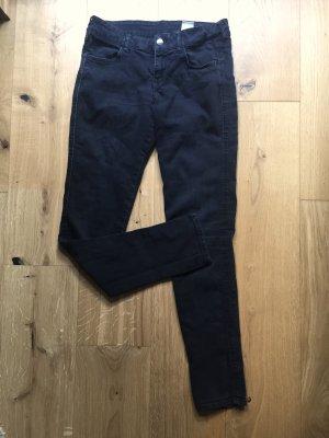 Schwarze Röhrenjeans Skinny Low Waist 28/32