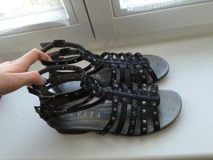 Schwarze Römer-Sandalen