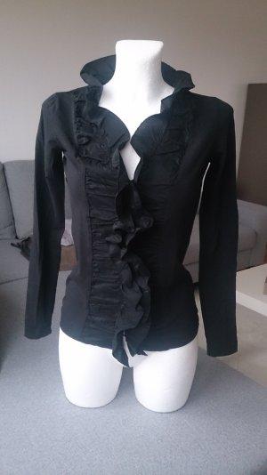 just B. Ruche blouse zwart