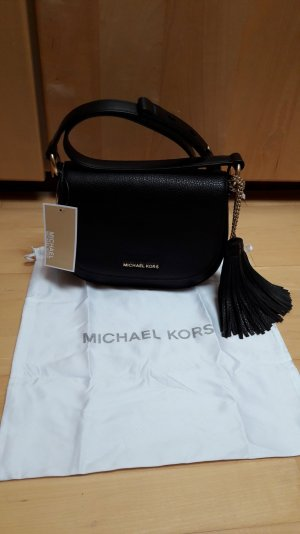 schwarze Saddle Bag von Michael Michael Kors