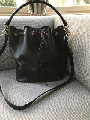 Saint Laurent Pouch Bag black leather