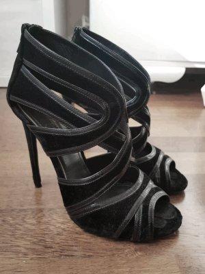 Schwarze Samt High Heels von Dolce und Gabbana