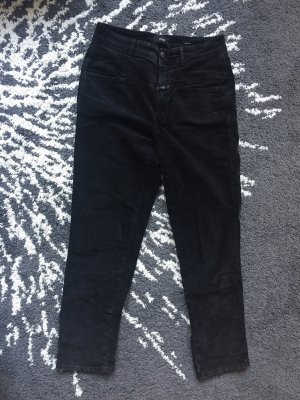 Schwarze Samthose von Closed (Pedal Pusher)