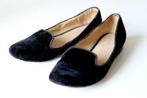 Zara Mocasines negro tejido mezclado