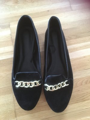 H&M Ballerinas black-gold-colored