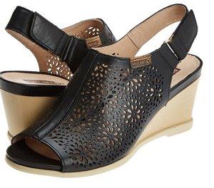 Pikolinos Sandales confort noir cuir