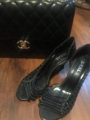 Ideal Sandalen met bandjes en hoge hakken zwart
