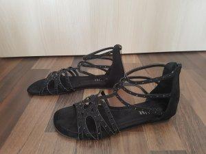 Sandalen met bandjes zwart