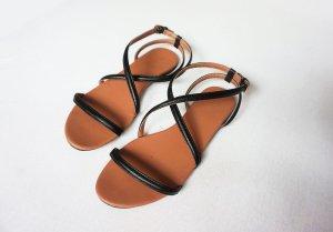 schwarze Sandalen H&M