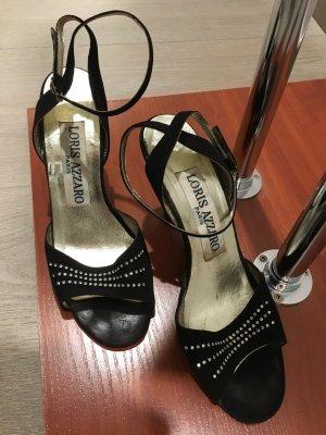 Azzaro Strapped Sandals black-silver-colored
