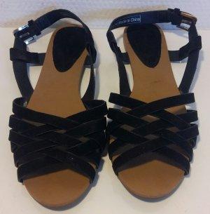 schwarze Sandalen Pimkie