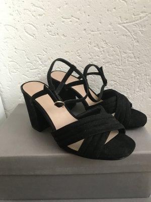 Schwarze Sandalen / Sandaletten von Asos 39 wide fit