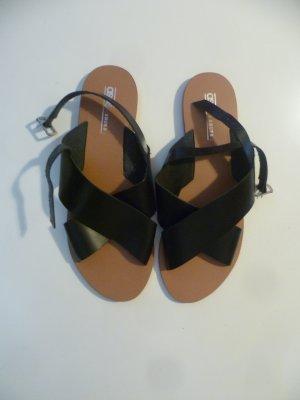 Asos Sandalo con cinturino nero-sabbia