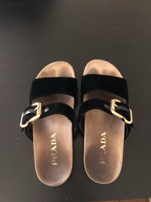 Prada Sandalo nero-oro