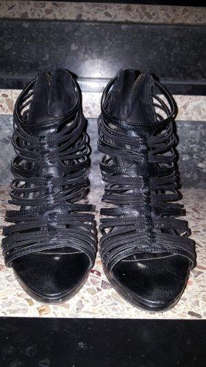 Schwarze Sandalen von Zara, Größe 38
