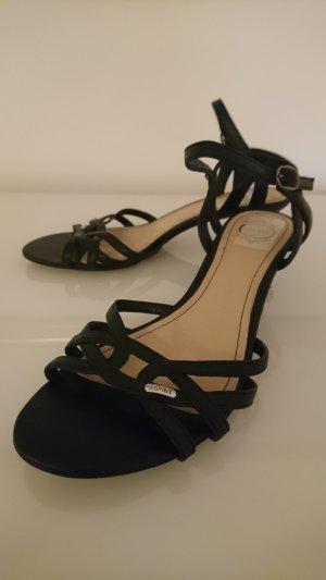 Esprit Strapped High-Heeled Sandals black-cream