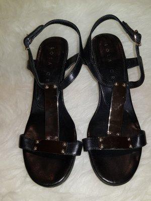 Schwarze Sandalette von Lola Cruz, Gr. 36