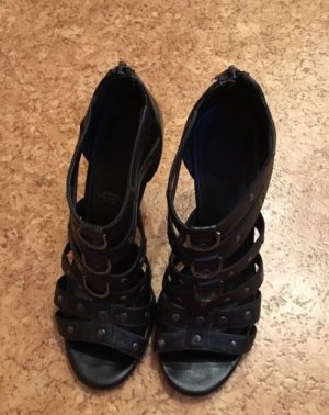 5th Avenue High Heel Sandal black-silver-colored