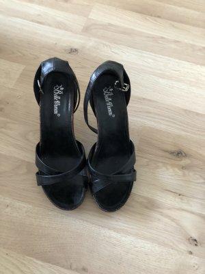 Schwarze Sandaletten Gr. 37