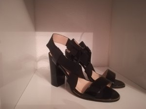 Schwarze Sandaletten, Grösse 38