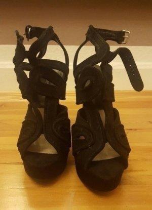 Schwarze Sandaletten Heels Zara