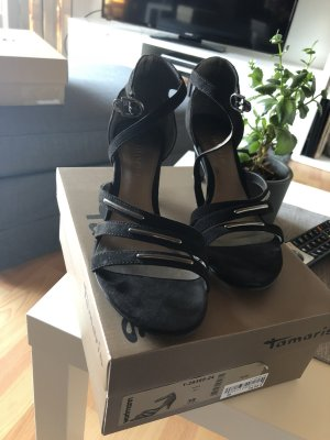 Tamaris High-Heeled Sandals black