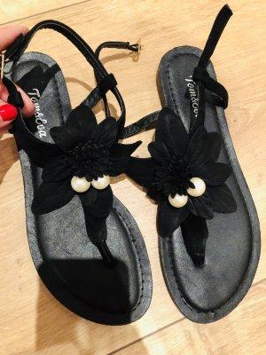 Tom & Eva Paris Flip-Flop Sandals black